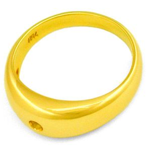 F7884, Typ XB, Gold Diamant Fassung 7,5mm Bandring, Gelbgold Weissgold