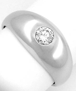 F7884, Typ XC, Gold Diamant Fassung 7,5mm Bandring, Gelbgold Weissgold