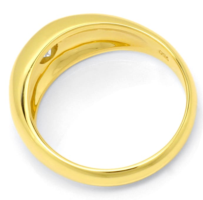 F7885, Typ XF, Gold Diamant Fassung 9,2mm Bandring, Gelbgold Weissgold