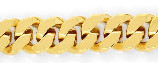 Foto 2, Designer Flachpanzer Goldarmband massiv Gelbgold Luxus!, K2000