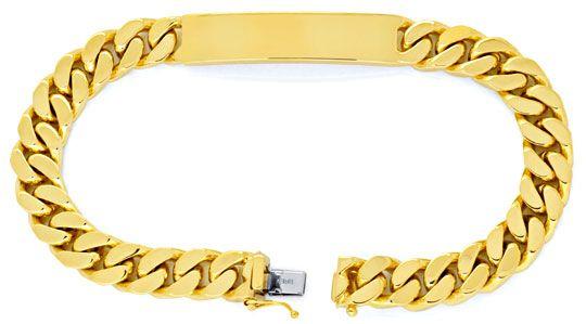 Foto 1, Identitäts Goldarmband extramassiv Gelbgold Luxus! Neu!, K2001