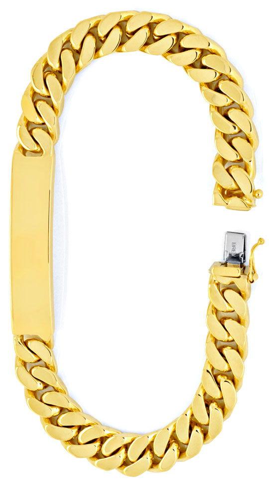 Foto 2, Identitäts Goldarmband extramassiv Gelbgold Luxus! Neu!, K2001