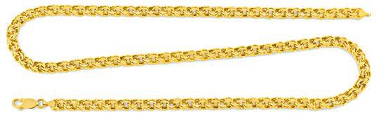 Foto 1, Garibaldi Goldkette, Gelbgold 14K/585 50cm 5,3mm Luxus!, K2002