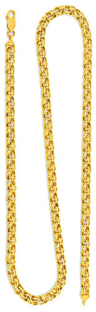 Foto 3, Garibaldi Goldkette, Gelbgold 14K/585 50cm 5,3mm Luxus!, K2002