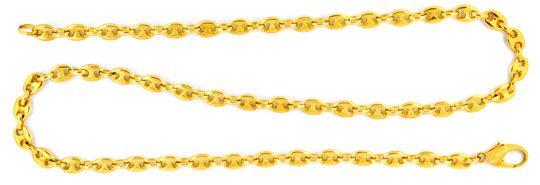 Foto 1, Bohnenkette Marinakette Schiffsankerkette, Gold, Luxus!, K2003