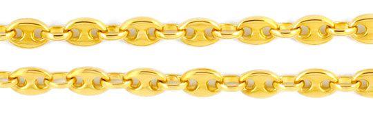 Foto 2, Bohnenkette Marinakette Schiffsankerkette, Gold, Luxus!, K2003