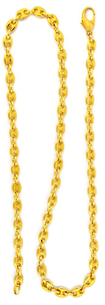 Foto 3, Bohnenkette Marinakette Schiffsankerkette, Gold, Luxus!, K2003
