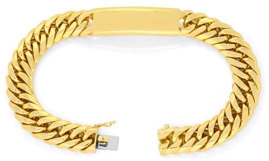 Foto 1, Designer Identitäts Goldarmband 112G 18K/750 Luxus! Neu, K2004