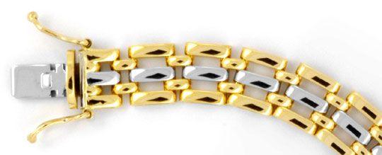 Foto 1, Glieder Armband, Gelbgold Weissgold 18K/750 Luxus! Neu!, K2006