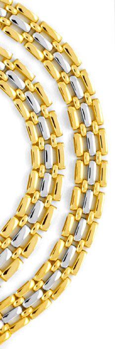 Foto 3, Goldkollier Verlauf, Gelbgold Weissgold 750 Luxus! Neu!, K2007