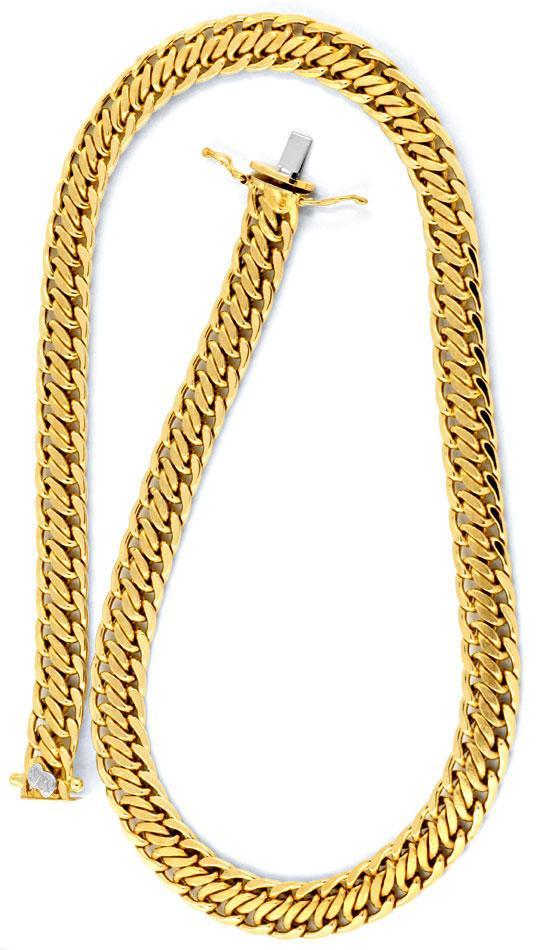 Foto 3, Goldkette Goldkollier 18K Gelbgold Doppel S Luxus! Neu!, K2008