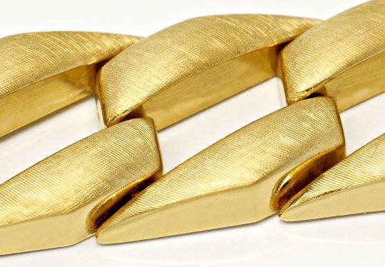 Foto 2, Phantasie Flachpanzer Goldarmband Gestiftet Luxus! Neu!, K2012
