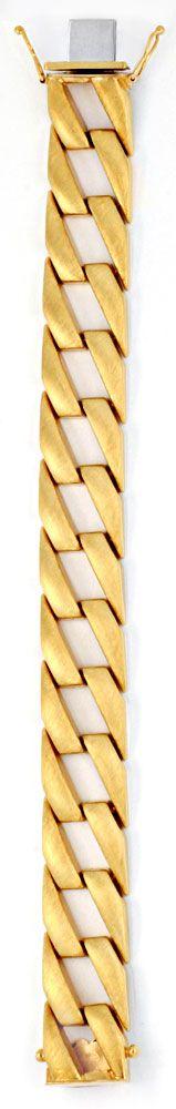 Foto 3, Phantasie Flachpanzer Goldarmband Gestiftet Luxus! Neu!, K2012