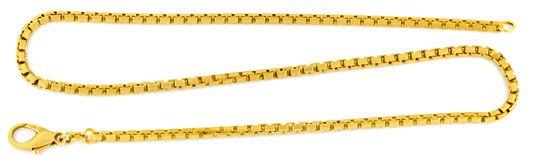 Foto 1, Venezianer Kette, massiv Gelbgold Satiniert, 14K Luxus!, K2015