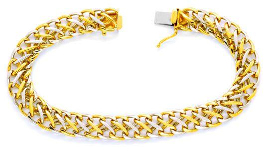 Foto 1, Platin Gold Armband, Flecht Achter Design Muster Luxus!, K2019