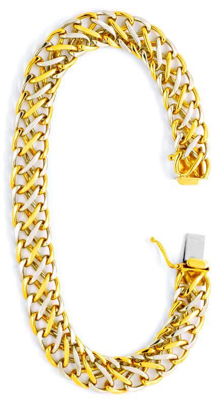 Foto 2, Platin Gold Armband, Flecht Achter Design Muster Luxus!, K2019