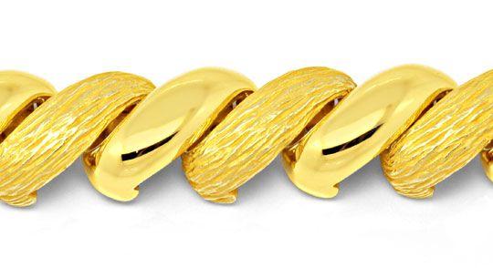Foto 2, Gelbgold Armband gewölbt massiv, Scharniere, 18K Luxus!, K2020