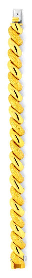 Foto 4, Gelbgold Armband gewölbt massiv, Scharniere, 18K Luxus!, K2020