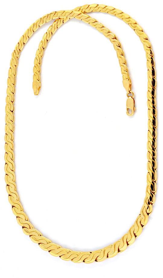 Foto 2, Designer Goldkette Gold Kollier 18K Gelbgold Luxus! Neu, K2023