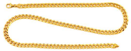 Foto 1, Massive Flachpanzer Goldkette, 14K Gelbgold Luxus! Neu!, K2024