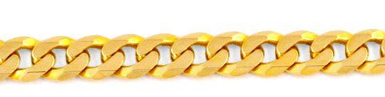Foto 2, Massive Flachpanzer Goldkette, 14K Gelbgold Luxus! Neu!, K2024