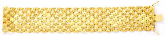 Foto 1, Wunderschönes breites Gold Armband, 69G 18K Luxus! Neu!, K2026