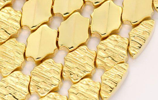 Foto 2, Wunderschönes breites Gold Armband, 69G 18K Luxus! Neu!, K2026