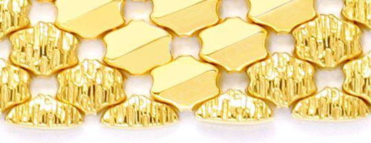 Foto 3, Wunderschönes breites Gold Armband, 69G 18K Luxus! Neu!, K2026