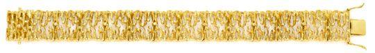 Foto 1, Designer Goldarmband massiv Gelbgold, Scharniere Luxus!, K2029