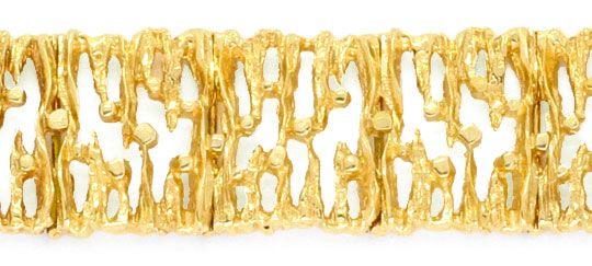 Foto 2, Designer Goldarmband massiv Gelbgold, Scharniere Luxus!, K2029