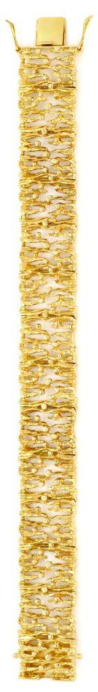 Foto 3, Designer Goldarmband massiv Gelbgold, Scharniere Luxus!, K2029