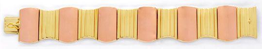 Foto 1, Top Modernes Designer Armband, Gelbgold Rotgold, Luxus!, K2032