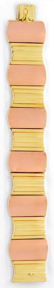 Foto 2, Top Modernes Designer Armband, Gelbgold Rotgold, Luxus!, K2032