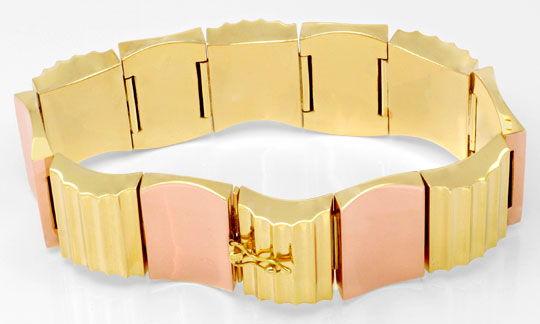 Foto 3, Top Modernes Designer Armband, Gelbgold Rotgold, Luxus!, K2032