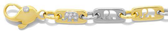 Foto 2, Massive Kette, Diamanten, Gelbgold Weissgold 18K Luxus!, K2034