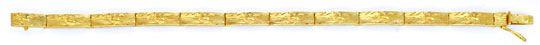 Foto 1, Glieder Armband Rohgold Design Scharniere Gelbgold Shop, K2037