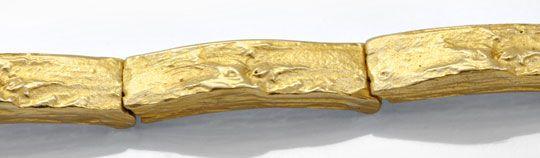 Foto 2, Glieder Armband Rohgold Design Scharniere Gelbgold Shop, K2037