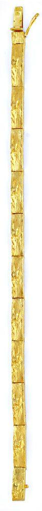 Foto 3, Glieder Armband Rohgold Design Scharniere Gelbgold Shop, K2037