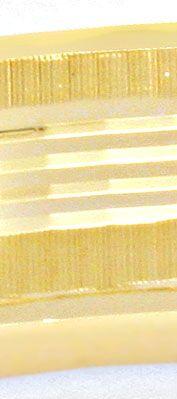 Foto 3, Armreif Gelbgold, Diamantschnitt Muster, 14K/585 Luxus!, K2038