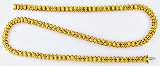 Foto 1, Designer Ringe Kette, Kollier / Collier 18K Gold Luxus!, K2043