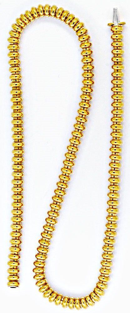Foto 2, Designer Ringe Kette, Kollier / Collier 18K Gold Luxus!, K2043