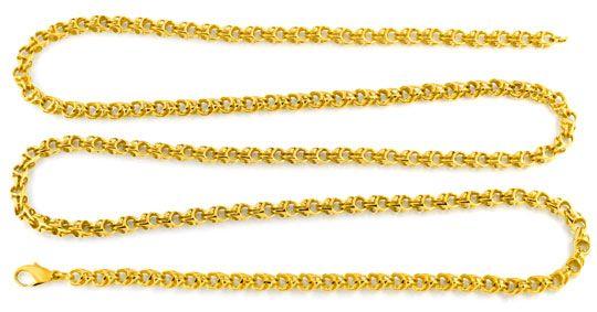 Foto 1, Seltene Goldkette, Glieder, Geflechtstruktur 14K Luxus!, K2045