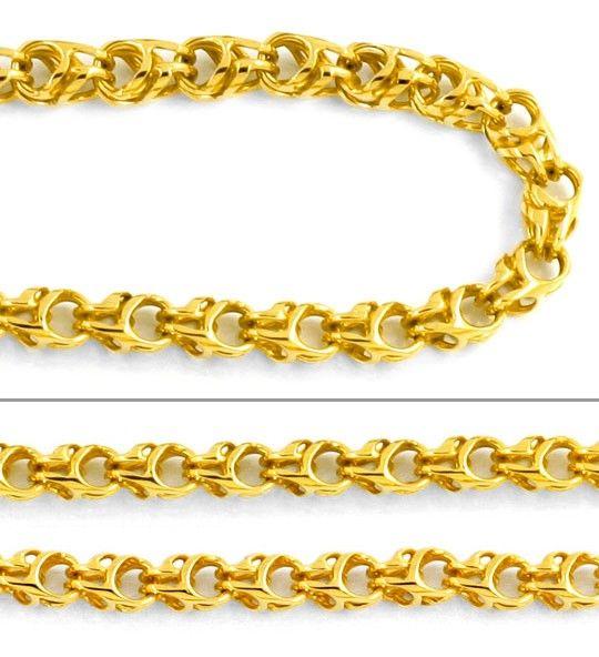Foto 2, Seltene Goldkette, Glieder, Geflechtstruktur 14K Luxus!, K2045