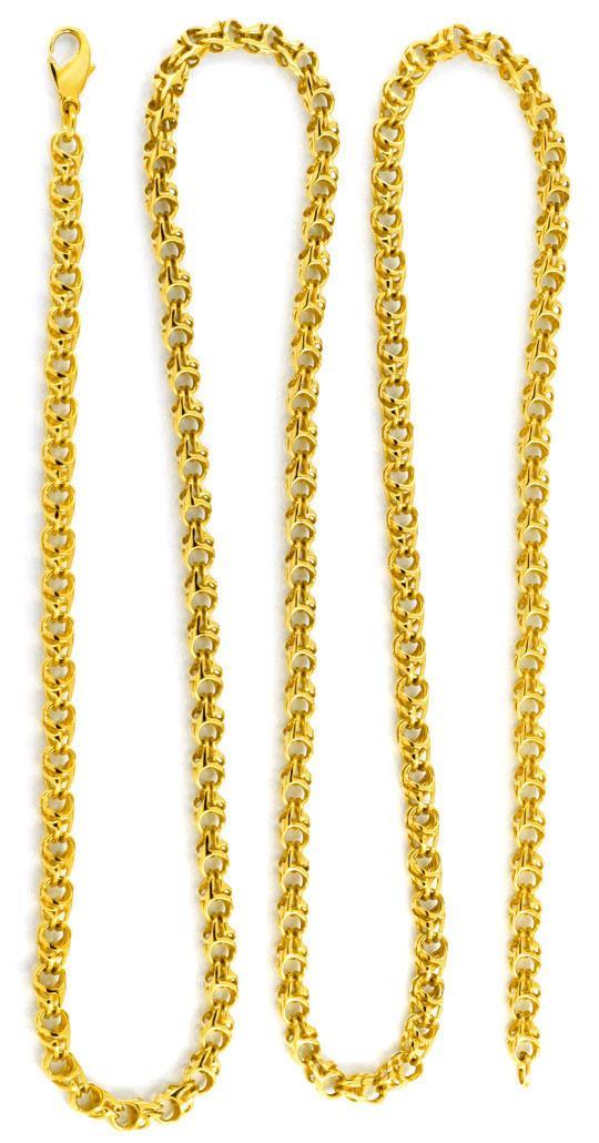Foto 3, Seltene Goldkette, Glieder, Geflechtstruktur 14K Luxus!, K2045
