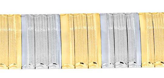 Foto 2, Goldarmband, Weissgold Gelbgold, Diamantschnitt, Luxus!, K2046