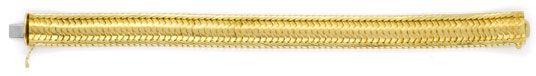 Foto 1, Schuppen Armband, Gelbgold Teilgraviert 585 Luxus! Neu!, K2047
