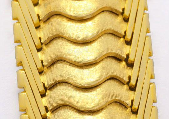 Foto 2, Schuppen Armband, Gelbgold Teilgraviert 585 Luxus! Neu!, K2047