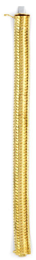 Foto 3, Schuppen Armband, Gelbgold Teilgraviert 585 Luxus! Neu!, K2047