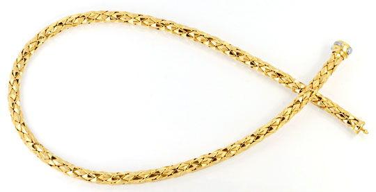 Foto 1, Designer Kette und Armband Gelbgold 18K/750 Luxus! Neu!, K2049