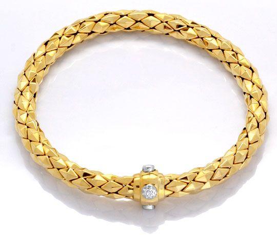 Foto 2, Designer Kette und Armband Gelbgold 18K/750 Luxus! Neu!, K2049